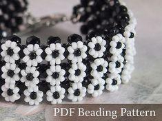 Beading Tutorial Daisy Bracelet Beading pattern by DiasJewelryShop, $5.00
