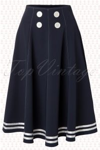 Miss Candyfloss Mollys Sailor Skirt Ahoy Navy 51 4571 20130311 Vintage Outfits, Retro Outfits, Modest Outfits, Skirt Outfits, Modest Fashion, Skirt Fashion, Dress Skirt, Fashion Dresses, Cute Outfits