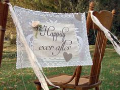 Wedding Banner Happily Everafter  Blush Pink by TwiningVines