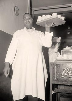 Black Waiter Here for your enjoyment is a pleasing picture of Black Waiter. It was made 1937 or 1938 by Harris & Ewing.   The image documents Elder Michaux.