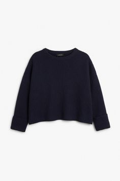 Monki Image 1 of Knit sweater in Blue Reddish Dark