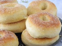 Donas horneadas 4 Donut Recipes, Brunch Recipes, Sweet Recipes, Healthy Cooking, Cooking Recipes, Tapas, Churros, Pan Dulce, Pan Bread