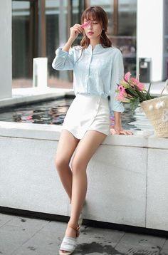 Japanese fashion wild side irregular single-breasted shorts - AddOneClothing - 2