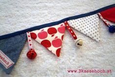 Kinderwagenketten - Wimpelkette für den Kinderwagen - ein Designerstück von…