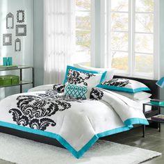 Mi-Zone Florentine Teal Modern Comforter Set & Reviews | Wayfair