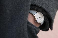 Joseph wears the Lugano 40mm Grey - 03 Larsson & Jennings