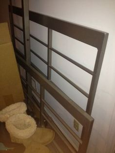 Atlanta: Queen size Metal bed from Crate and Barrel - $50 - http://furnishlyst.com/listings/1158386