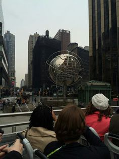World statue at Columbus Circle