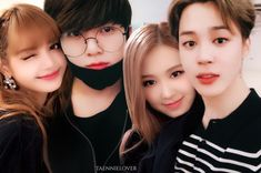 Jungkook And Jin, Bts Jimin, Jhope, Lisa Blackpink Instagram, Fanart, Bts Girl, Kpop Couples, Rose Pictures, Blackpink And Bts