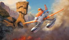"""Dusty is back in Disneytoon Studios' all new high-flying adventure """"Planes: Fire & Rescue,"""" landing in theaters on July 18, 2014."""