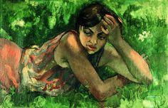 """#Amrita_Sher_Gil Hungarian Gypsy Girl  Вера Полозкова  """"за моей кромешной, титановой, ледяной обидой на мир происходили монастыри и скалы, тонкий хлопок и кашемир, водопады с радугой в мелких брызгах, и вкус бирьяни..."""""""