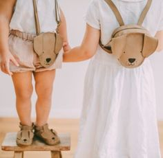 Handcrafted Leather Animal Backpack by Donsje® Leather Gifts, Leather Wallet, Handmade Leather, Leather Bags, Vintage Leather, Animal Backpacks, Leather Baby Shoes, Diy Baby Gifts, Kids Bags