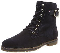 Tommy Hilfiger WENDY 6B, Damen Combat Boots, Blau (MIDNIGHT 403), 41 EU - http://uhr.haus/tommy-hilfiger/41-eu-tommy-hilfiger-wendy-6b-damen-combat-boots