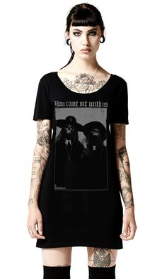 Can't Sit With Us Tee Dress #disturbiaclothing disturbia classic witch metal alien goth occult grunge alternative punk
