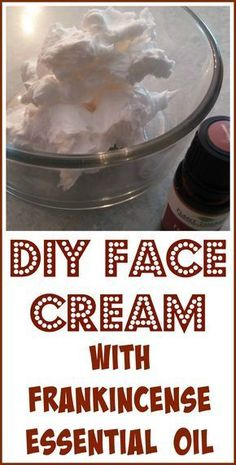 How to make face cream with frankincense essential oil, coconut oil and natural shea butter.