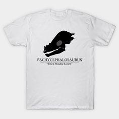 Pachycepahalosaurus Skull T-shirt #dinosaurs #pachycephalosaurus #jurassic #skull #fossil