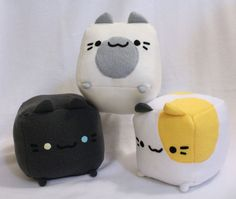 **Listing is only for ONE plushie! Cute plush toy based off the popular mobile game, Neko Atsume! Just pick your desired cat and I will make them to