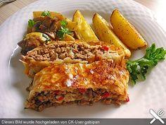 Hackfleisch - Paprika - Käse - Strudel