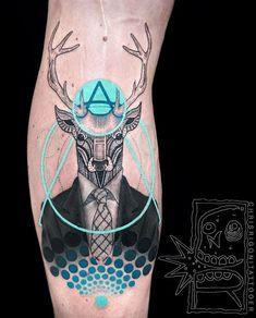 Remarkable Deer in Suit Tattoo