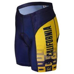 Adrenaline Promotions University of California Golden Bears Cycling Shorts (University of California Golden Bears - XL), Gold