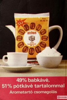 A kávézás retro kellékei. Old Ads, Vintage Advertisements, Hungary, Illustrators, Retro Vintage, Tableware, Budapest, 3, Childhood