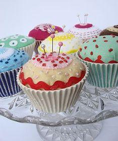 Various Cupcake Pin Cushion