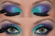 Purple turqouise Eye makeup
