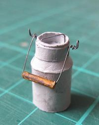 DIY Miniature Dollhouse Milk jug tutorial and templates. In french but easy to follow pictures and google translate makes the instructions clearer.