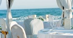 Beach club wedding in Spain, let us assist you with your wedding planning contact us on info@medweddings.com