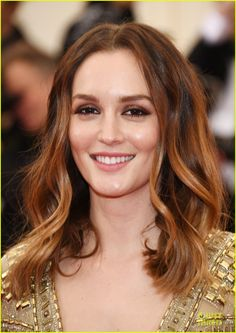 Leighton Meester Takes the Golden Plunge at Met Ball 2014! | 2014 Met Ball, Leighton Meester Photos | Just Jared