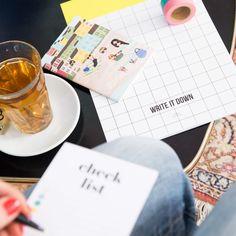 The Stationery Store fotoshoot januari 2018 notebooks and tea