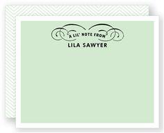 Flat Notecard   Folded Words
