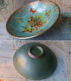 Scott Potter Iris Bowl in Decoupage Decoupage Plates, Decoupage Wood, Paper Napkins For Decoupage, Decoupage Ideas, Crafts To Sell, Diy And Crafts, Arts And Crafts, Paper Crafts, Mod Podge On Wood