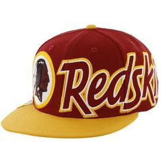 47 Brand Washington Redskins Script Big Time Snapback Hat - Burgundy Gold   1679211cc