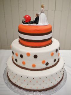 Cleveland Browns Themed Wedding Cake