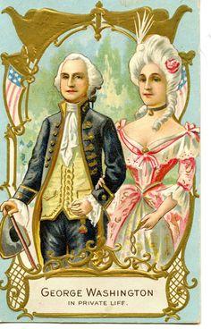 George Washington Martha Private Life Colonial Couple Vintage 1911 Postcard | eBay