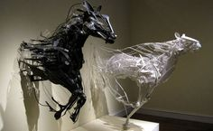 Love these horses on the run---all made from junk.    Incredible!    Junk art