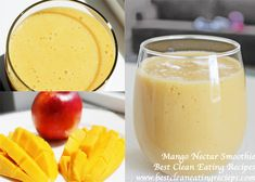 Clean Eating Dessert – Mango Smoothie Recipe | Diet Meals and Easy Healthy Recipes that Help Me Lose Weight