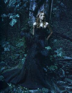 Nina Ricci Winter/Fall 2007. Model: Anabela Belikova Picture: Annie Leibowitz