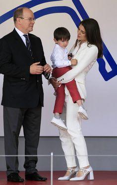 Madre e hijo compartieron unos preciosos momentos en el podio del Eprix de Mónaco