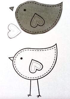 Ideas For Bird Embroidery Pattern Applique Quilts Bird Applique, Bird Embroidery, Free Motion Embroidery, Applique Design, Applique Templates, Embroidery Patterns Free, Felt Patterns, Bird Patterns, Applique Quilts