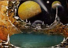 Spray art, space city