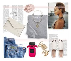 """""""Street style"""" by fashion-783 ❤ liked on Polyvore featuring Blair, Madewell, Miu Miu, Rebecca Minkoff and Topshop"""