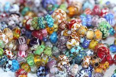 This pile of beads were the Unique Trollbeads I got in for Trollbeads Fest!2010.  This is like a dream looking at these!