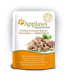 Applaws Chicken with Beef In Jelly Pouch Adult Cat Food 70g x 16 -- Find out more at the image link. #CatFood