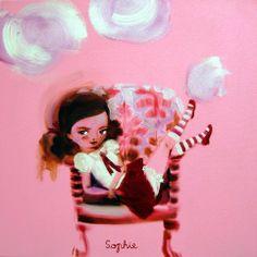 Sophie. 70 x 70 cm, oil on canvas, Katja Tukiainen 2010