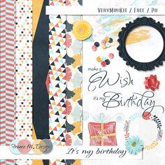 """""""Make a wish - it´s my Birthday"""" kit - freebie (download 21,0 MB)"""