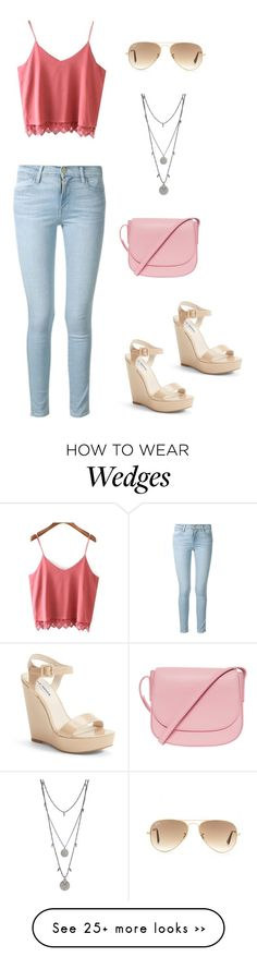 """""""Untitled #1518"""" by mina1924 on Polyvore featuring Frame Denim, Steve Madden, Ray-Ban, Mansur Gavriel and Vince Camuto"""
