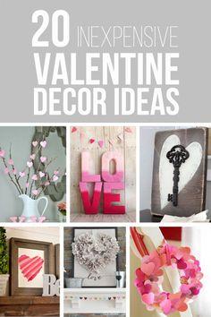 20 Inexpensive Valentine Decor Ideas