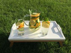 water, natural fruit water, orange mint, lemon, recipe, natural flavored waters, drink